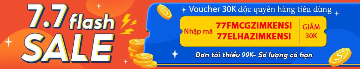 7.7 Flash Sale - Voucher độc quyền ZimKen 30K - Ngành hàng tiêu dùng | Shopee Việt Nam!